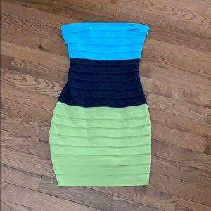 Max & Cleo Dresses - Strapless color block dress